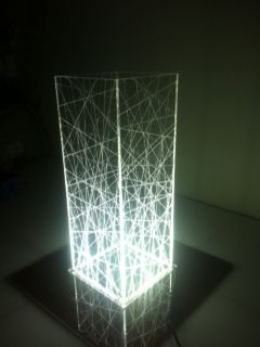 2019 LampPlexiglass table in Ethereal light lampLED Yfgyb76