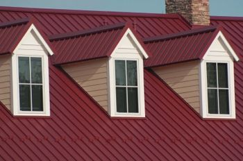 Best Dark Red Metal Roof And 3 Dormers With Metal Roofing Metal Roof Residential Roofing Roofing 400 x 300
