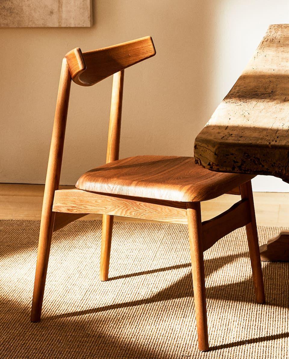 Image 6 Du Produit Chaise En Bois In 2020 Wooden Chair Chair Zara Home