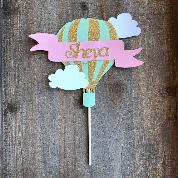 how to make hot air balloon cake topper