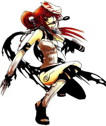 Anime Ninja Girl Fox Mask Tattoo Kunai Chica Ninja Naruto Fan Art Mujer Ninja