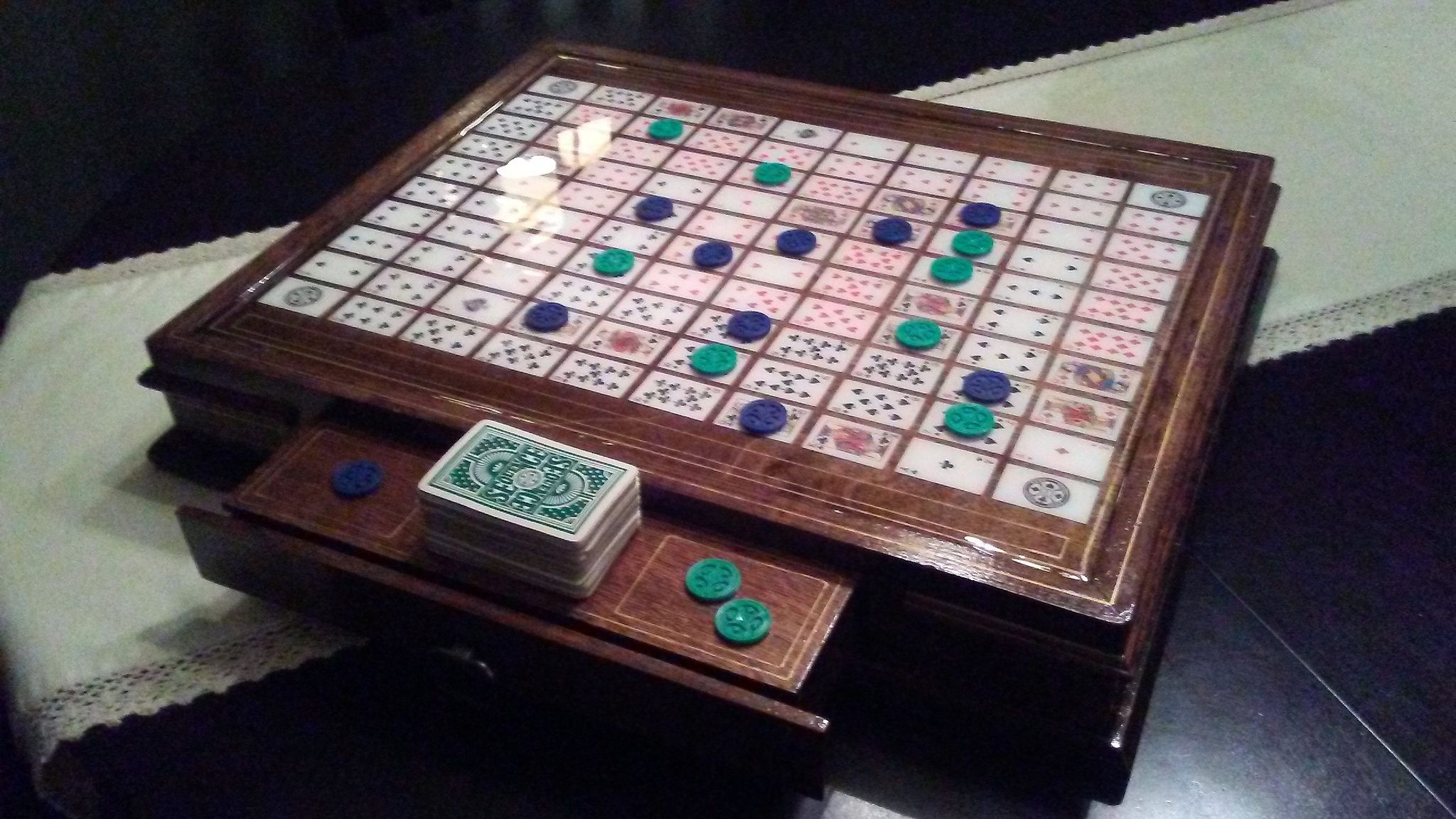 Sequence homemade board Sequence game, Board games, Fun