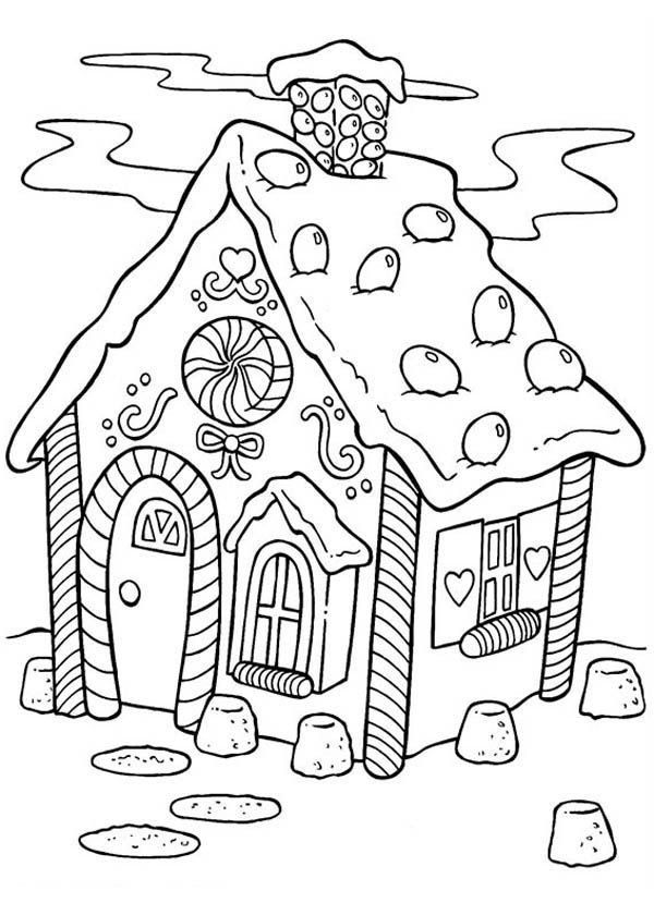 Gingerbread House Candy Coloring Pages Printable Christmas Coloring Pages Coloring Books Coloring Pages