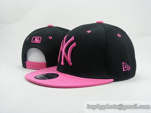 MLB Baseball NEW YORK Yankees NY Snapback Hat Cap Black Pink 43fb63194b7