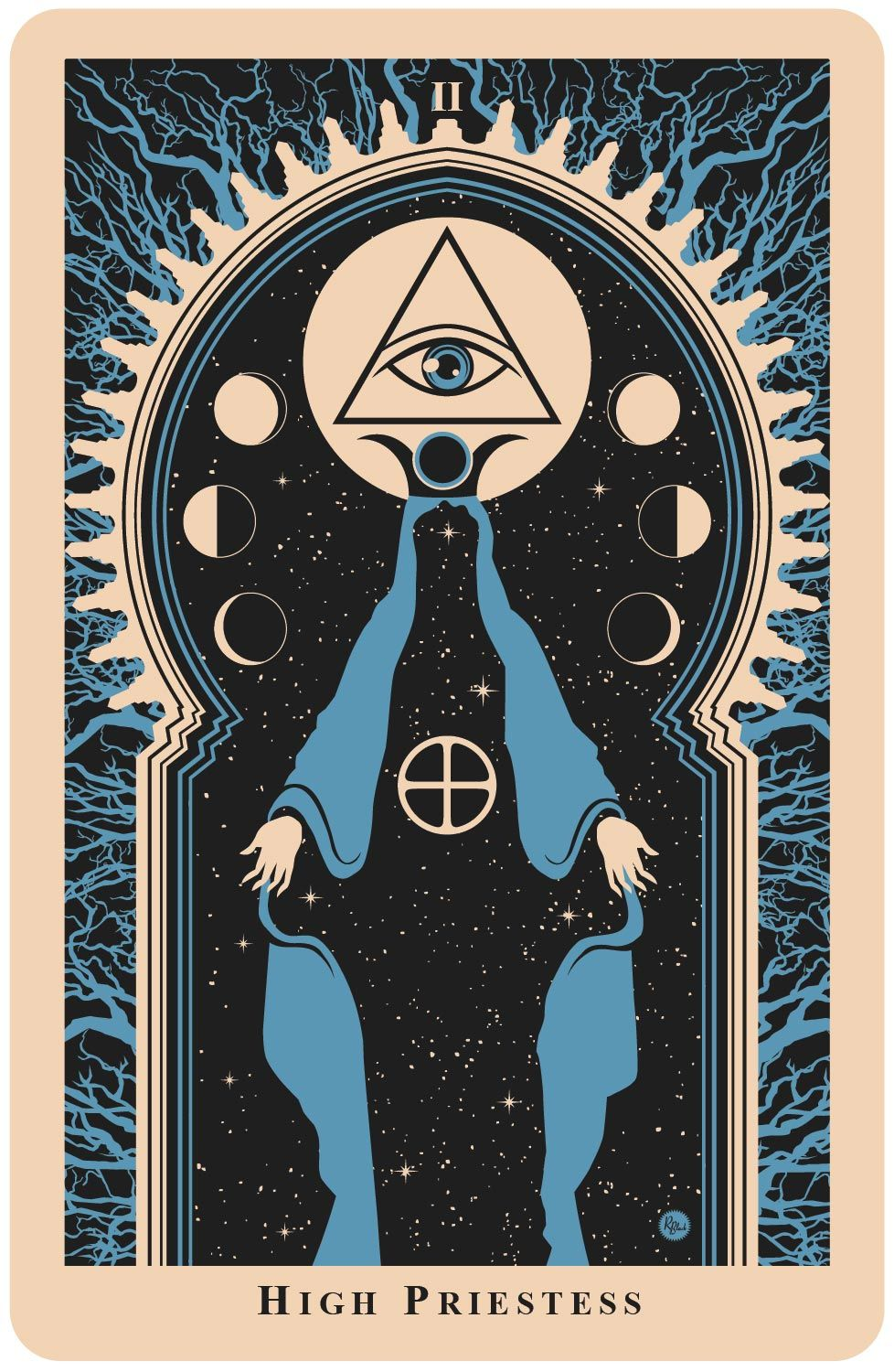 The High Priestess Card | Eso téri co | Tarot, Tarot cards