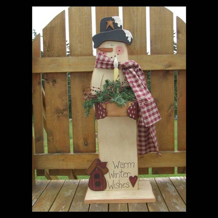 country christmas craft ideas primitive wood pattern snowman digital e pattern 3710