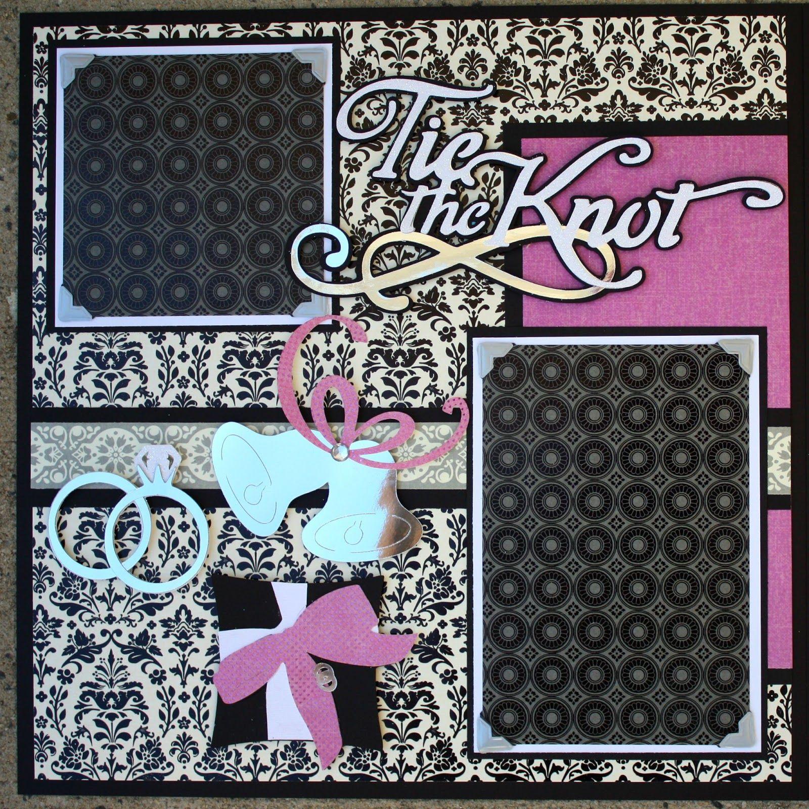 Wedding scrapbook ideas using cricut - Cricut Wedding Scrapbook Layouts Wedding Album Series Tie The Knot 12x12 Double Scrapbook Layout