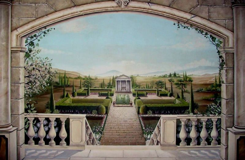 Frederick maryland wall murals trompe l oeil mural for Mural quebec city