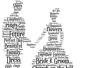 Personalised Wedding Word Art Bride Groom By Wordartgifts4u