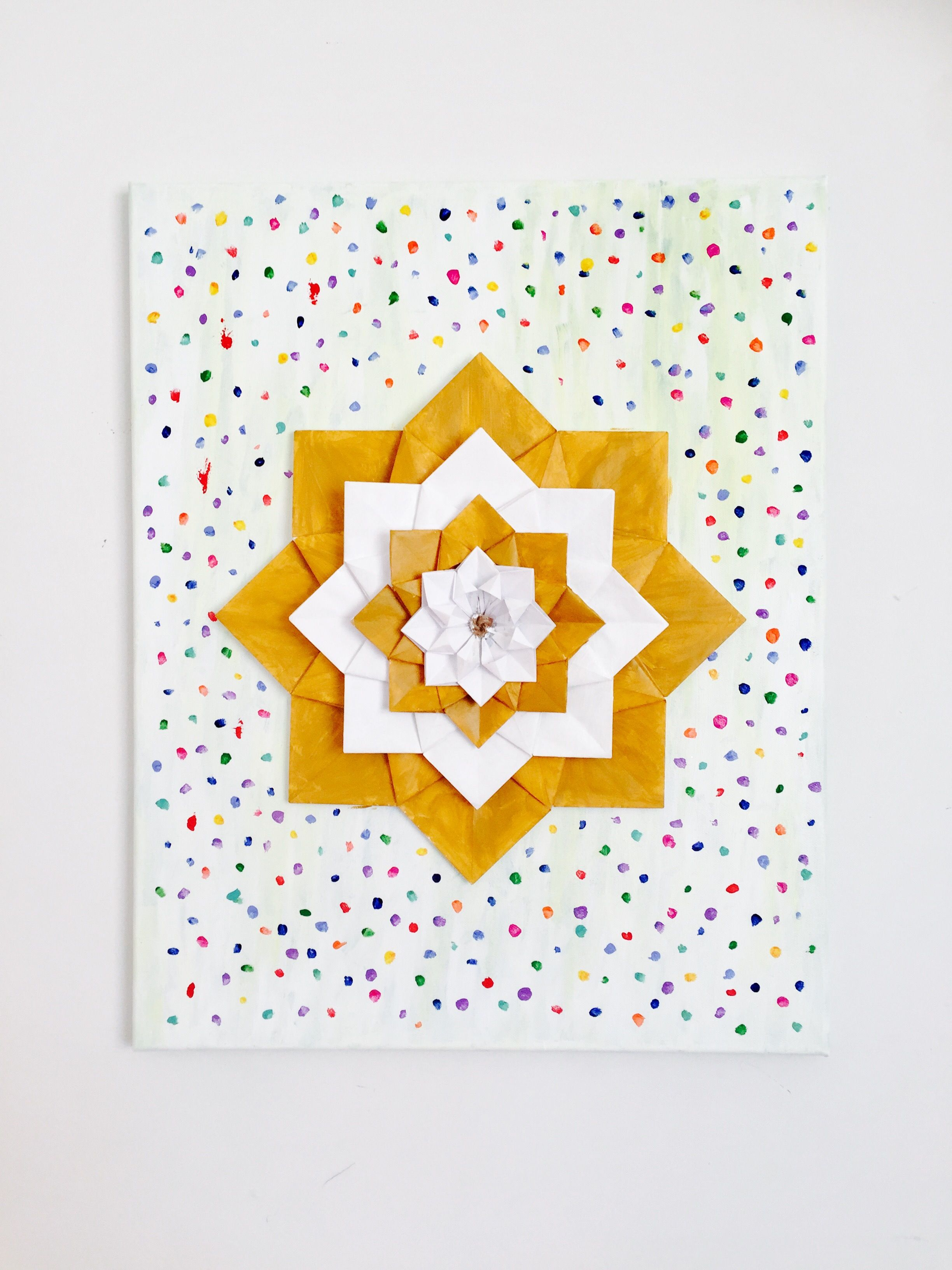Flower wall art made out of recycled paper on canvas! Flowers are ...