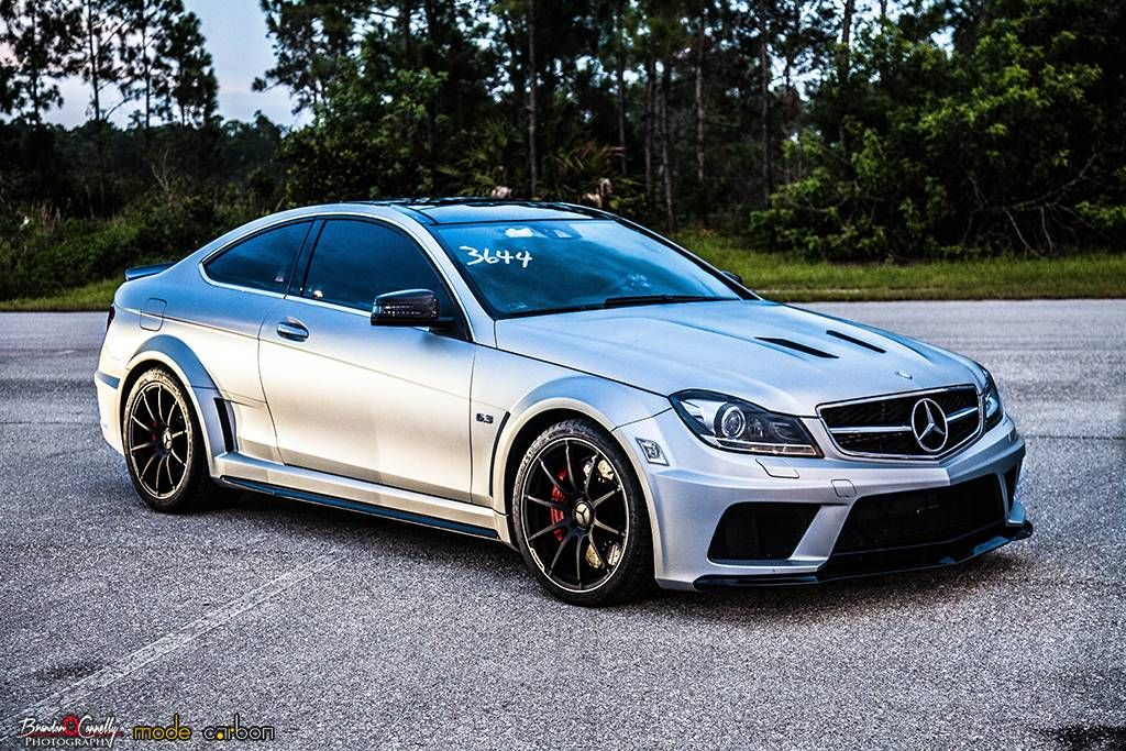 Mercedes Benz W204 C63 Amg White On Black With Images Mercedes
