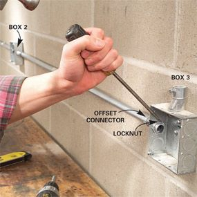How To Install Surface Mounted Wiring And Conduit Diy Electrical Electrical Conduit Fittings Home Electrical Wiring