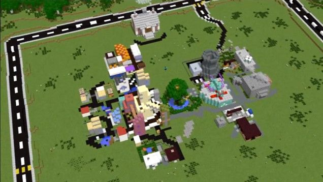 It's SimCity in Minecraft. Literally.