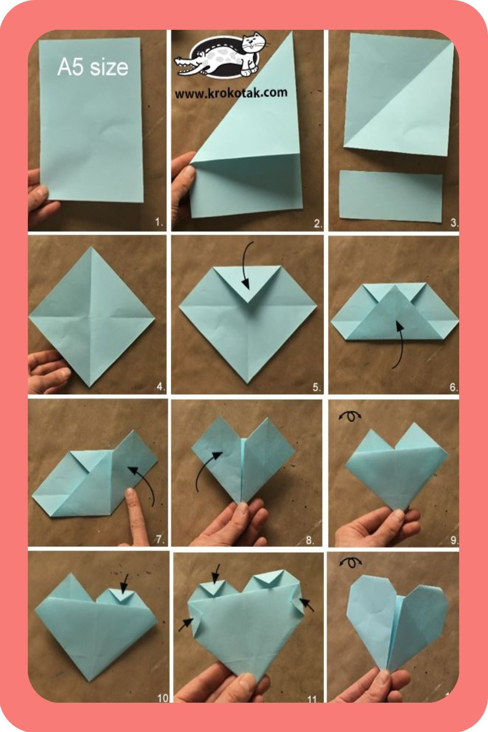 Paper Stuffing Paper Foxes Tutorial Paper Hearts Origami Origami Heart Origami Design