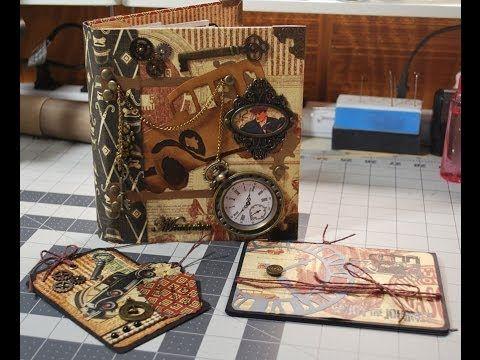 Graphic 45 Proper Gentleman Vintage Mini Scrapbook - YouTube