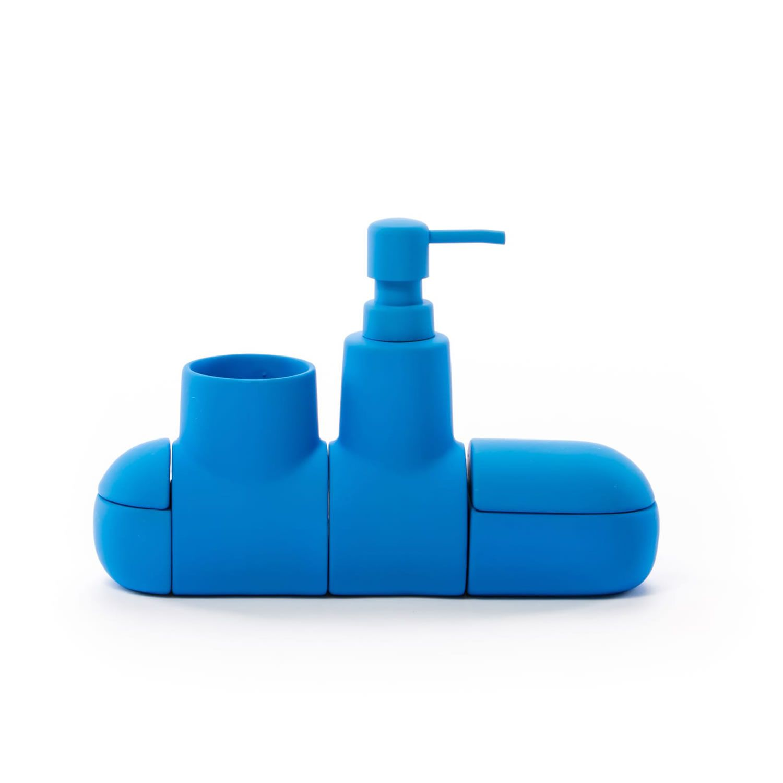 Accessori Per Bagno Colorati.Acquista Online Submarino Set Accessori Bagno Con Dosa Sapone In