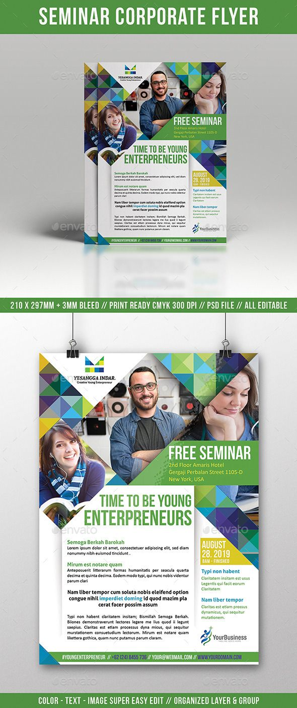 Seminar Flyer Multi Use - Corporate Flyers | Design / Layout ...