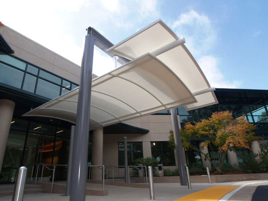 Entrance Canopy Steel Fabric Canopy Stanford Vision