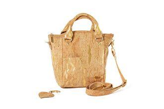 Cork bag PRAHA Natural Golden