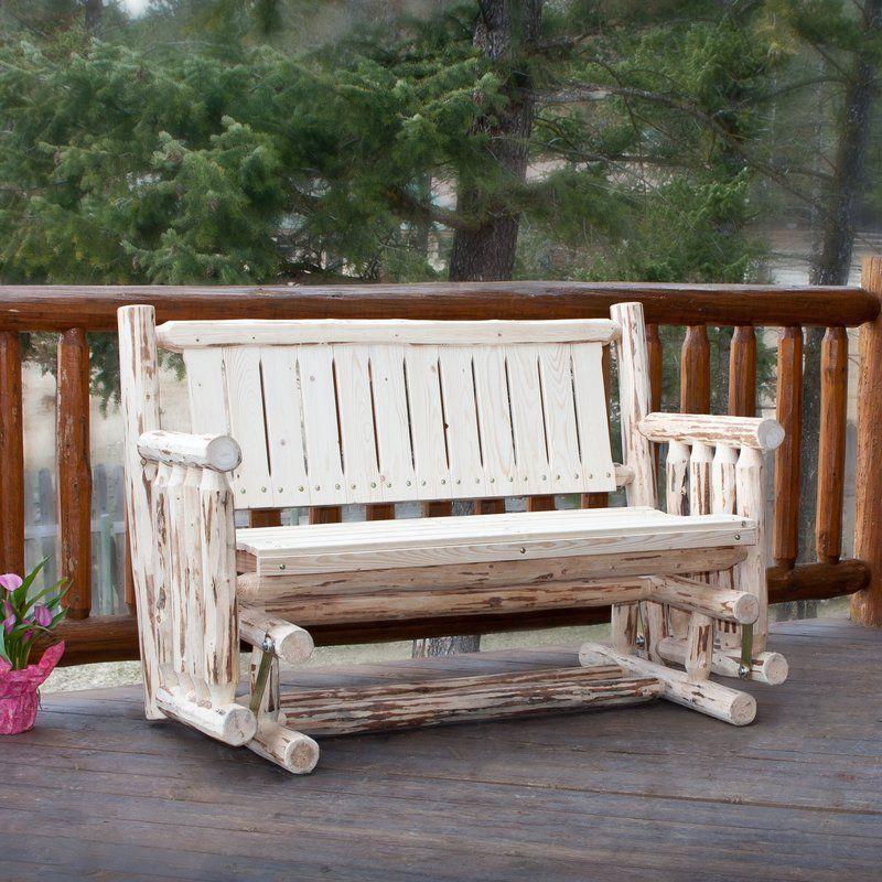 Loon Peak Tustin Glider Bench Reviews Wayfair Porch Swing Patio Rocking Chairs Rocking Bench