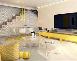 Salon styl Nowoczesny - zdjęcie od Klaudia Tworo Projektowanie Wnętrz