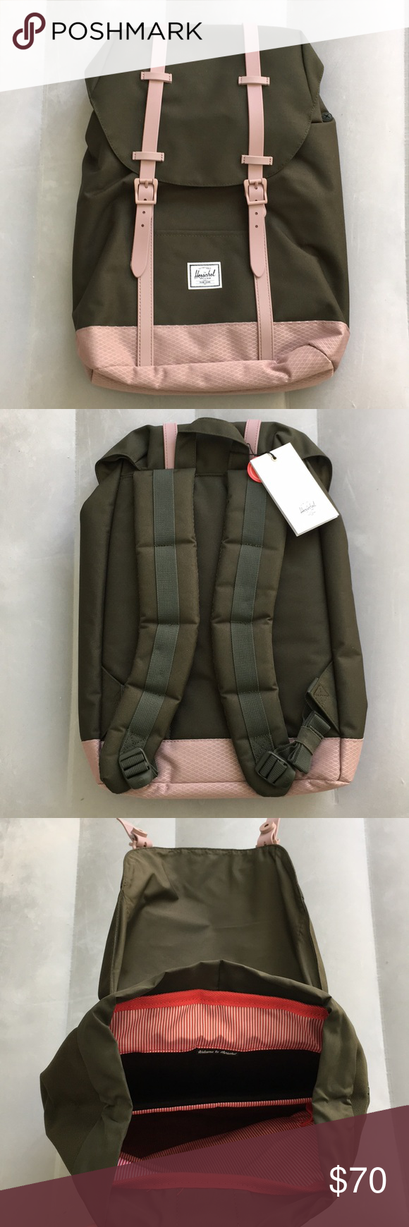 e6db038b525 Herschel Retreat Backpack Mid-Volume New with tags! The color is forest  night and ash rose