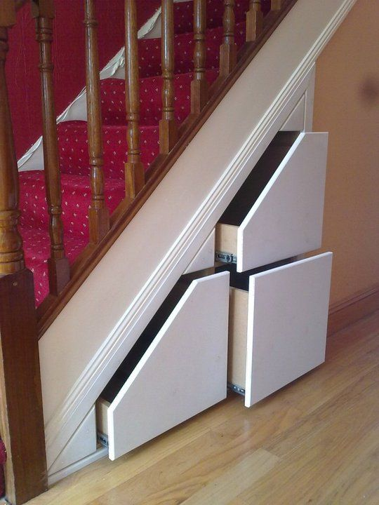 Under Stairs Drawers maybe not glamorious or fun but good practical use under the