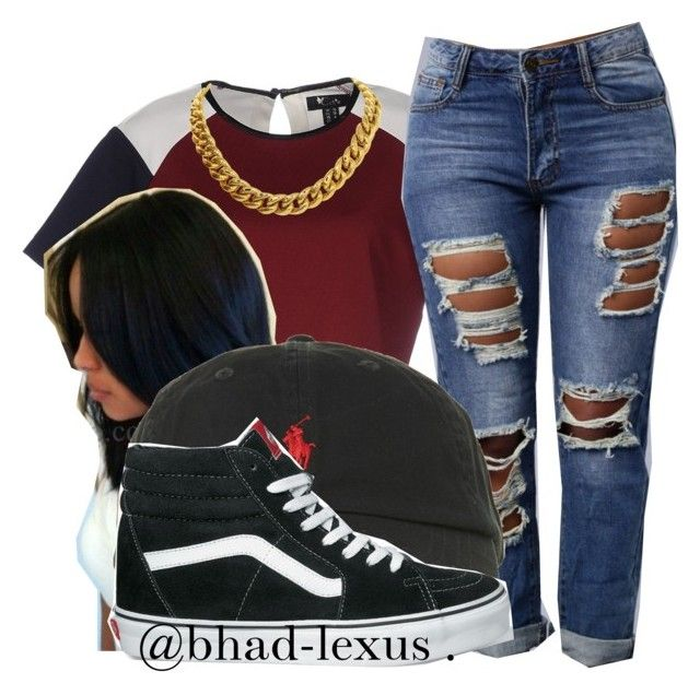 """"""""""" by bhad-lexus ❤ liked on Polyvore featuring Cutie, Polo Ralph Lauren, Vans and CÉLINE"""