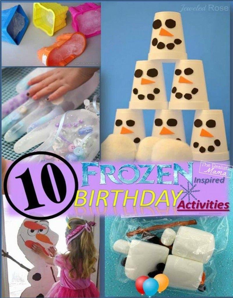 10 Frozen Birthday Party Activities Birthday activities