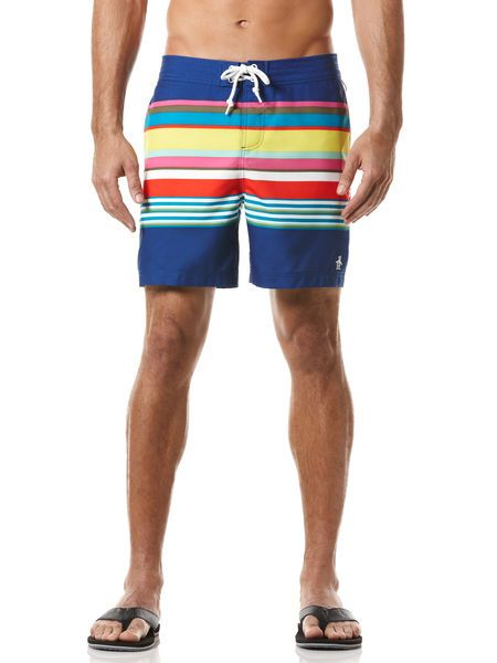 Packing for Miami this weekend! Can't wait to wear my new Spring 2013 striped swim short