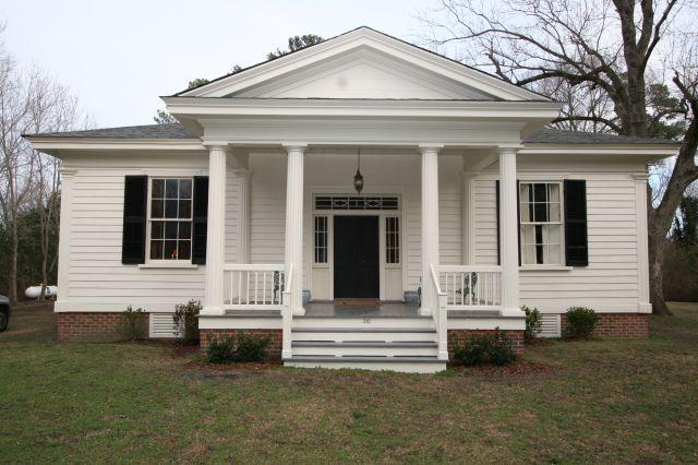 Historic Properties For Sale Historic Greek Revival Cottage Price Reduced North Carolina Greek Revival Home Greek Revival Architecture Southern Cottage