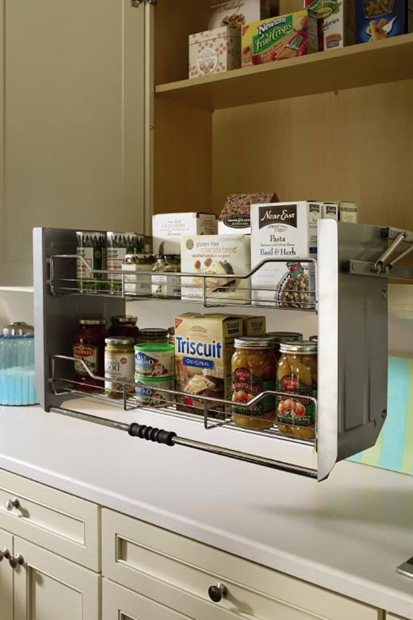 This Two Tiered Shelf Pulls Down Bringing Items In Wall Cabinets Within Easy Counter