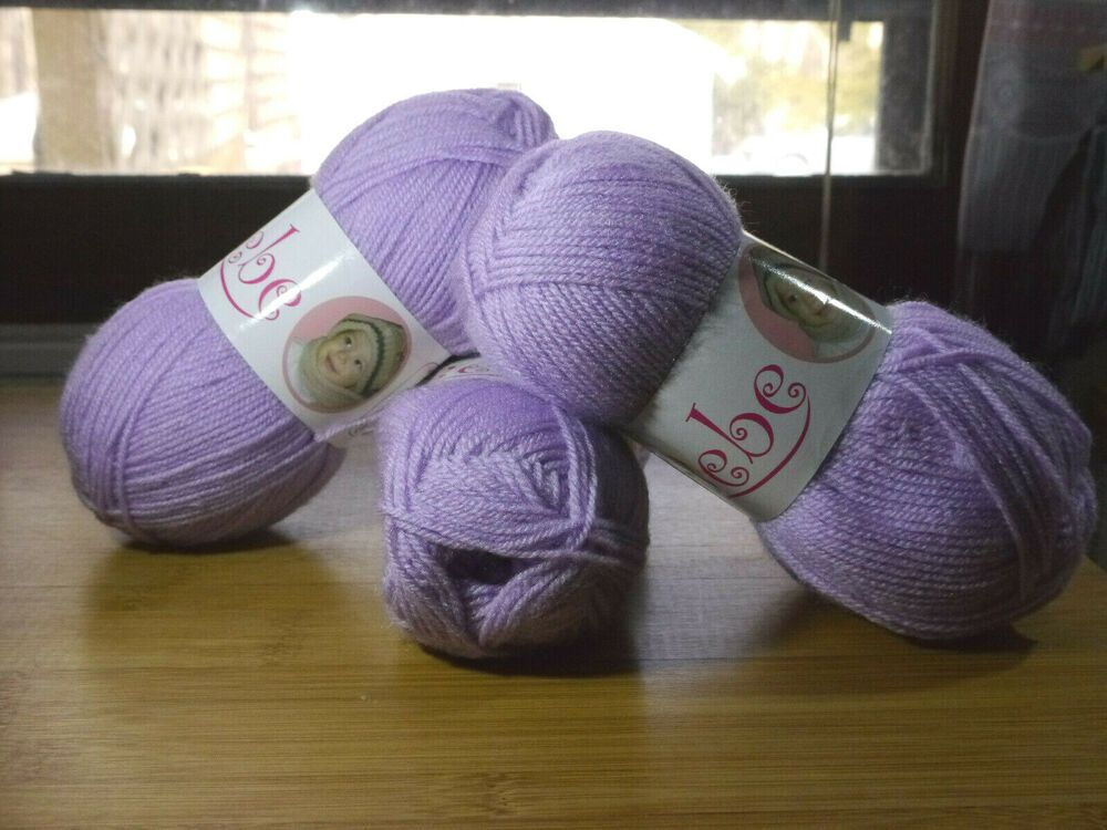 lot of 2 Oxford Bebe baby yarn Baby Lilac 202 yds each