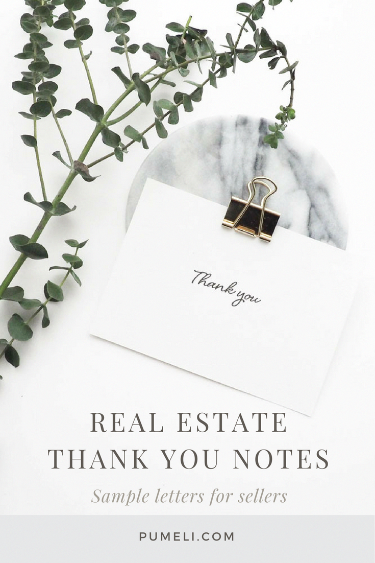 Thank You Letter Examples for Real Estate Marketing | Real