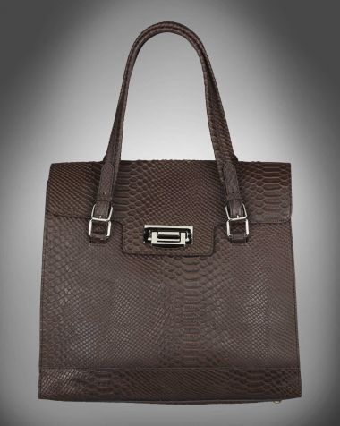 Retro big bag brown snakeskin from V-Collection