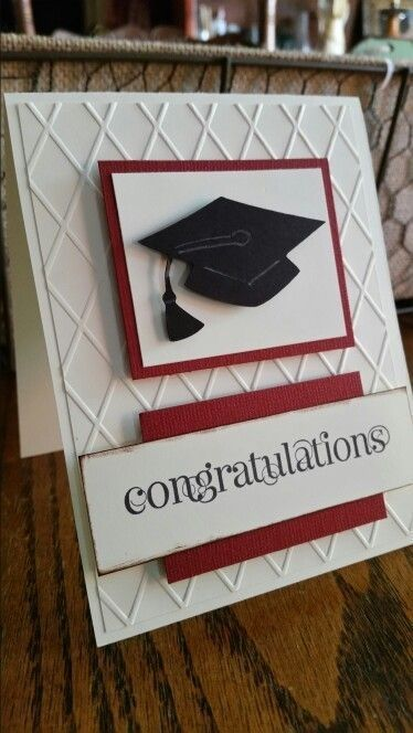 Photo of High school graduation card using Stampin Up Curly Cute set