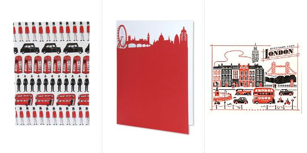 London Theme Invitations