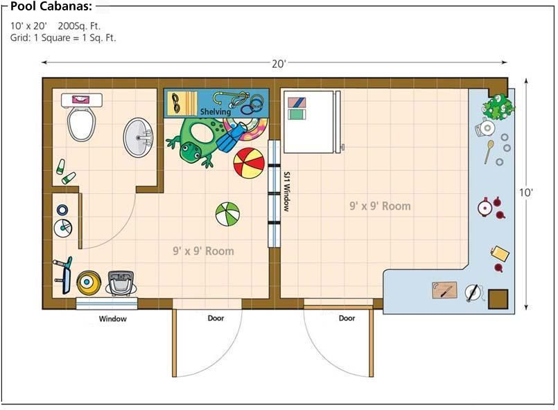 Pool House From Shed Shed Floor Plans Pool Cabana Pool House Plans