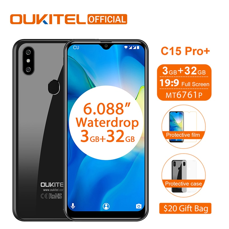 """OUKITEL C15 Pro 6.088""""199 WaterDrop Android 9.0 Mobile"""