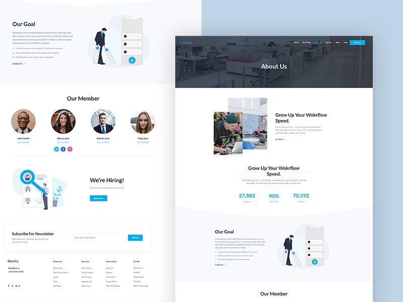About Us Free Xd Psd Page Template Page Template Templates Template Free