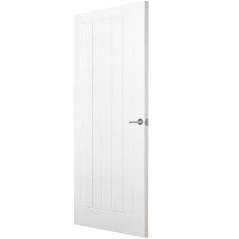 Premdor 5 Panel Vertical Textured Internal Door Next Day Delivery