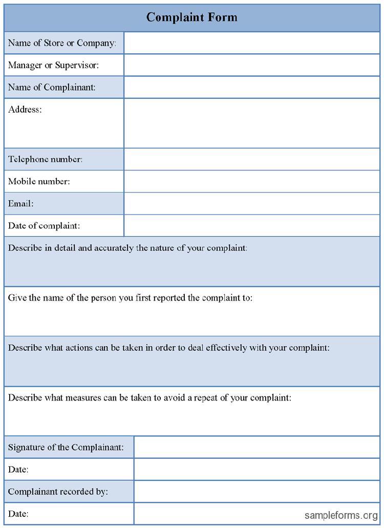 Complaints Forms Templates Customer Complaints Excel Templates Templates