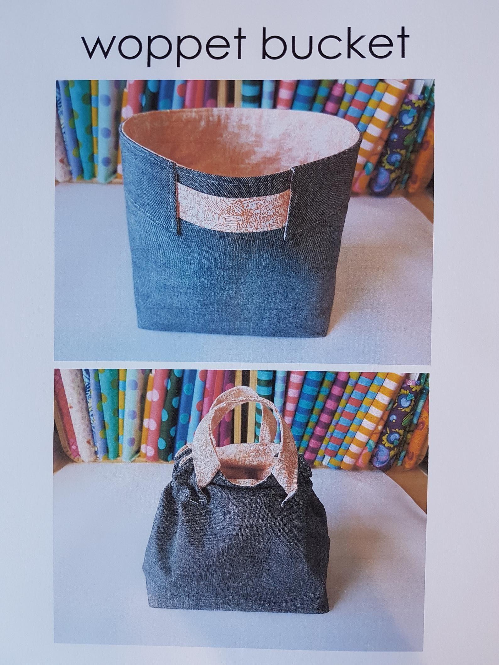 Woppet Bucket Pdf Pattern Diy Bag Bucket Pattern Instant Etsy