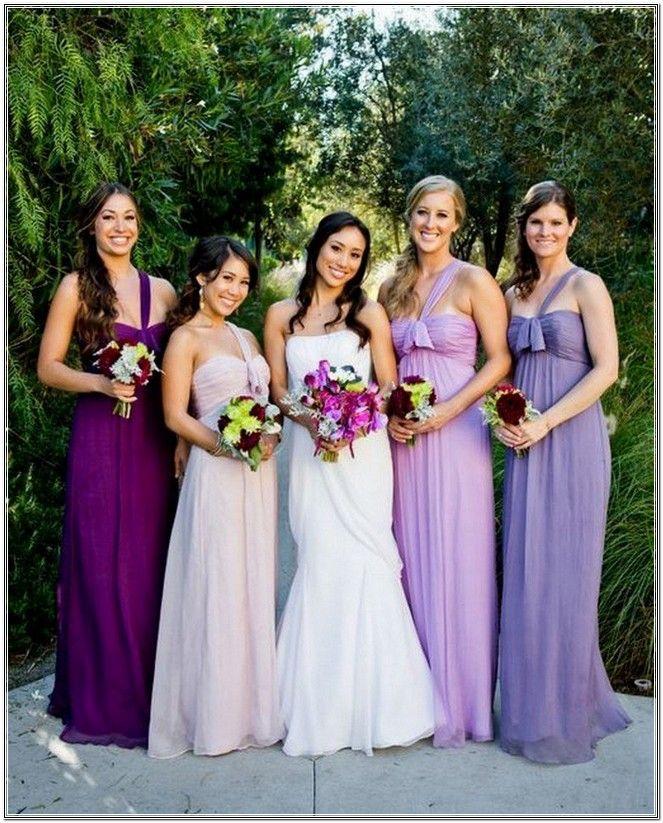 Shades Of Purple Bridesmaid Dresses Wedding And Bridal Inspiration