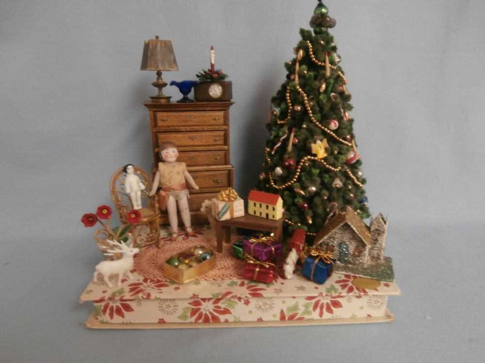 Victorian Christmas Eve Miniature Dollhouse Picture