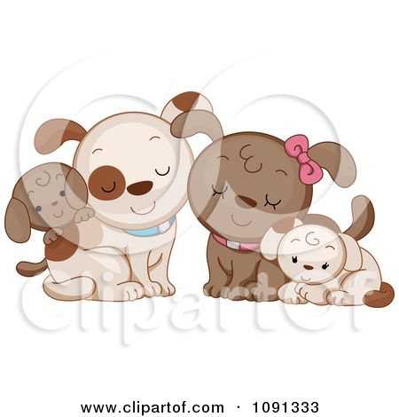Clipart Cute Dog Family Royalty Free Vector Illustration By Bnp Design Studio Free Vector Illustration Dog Illustration Chihuahua Drawing