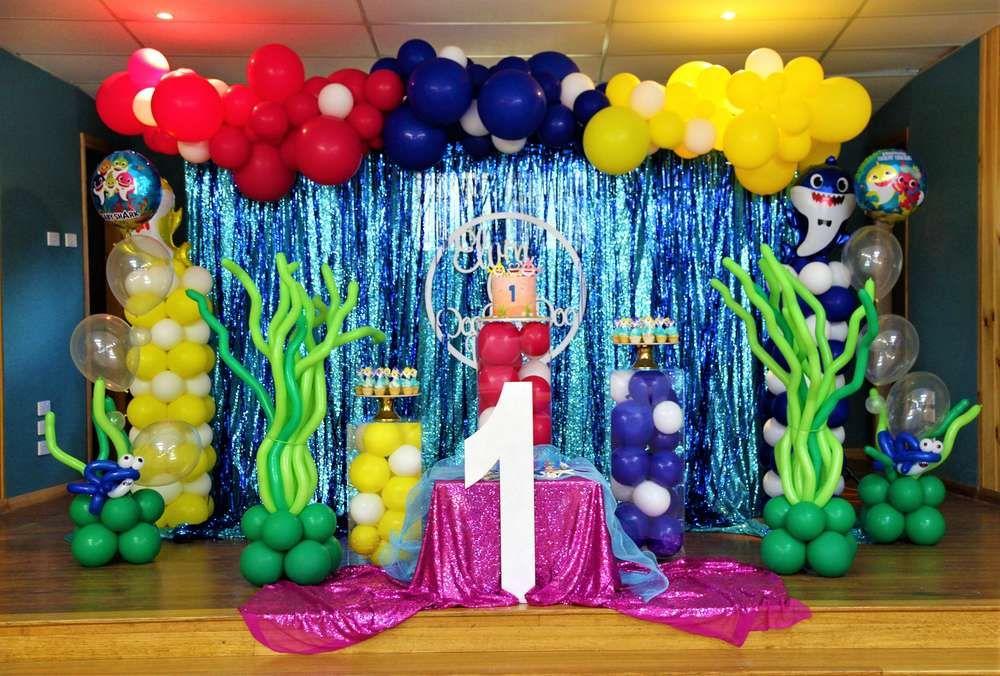 Baby shark birthday party ideas shark party decorations