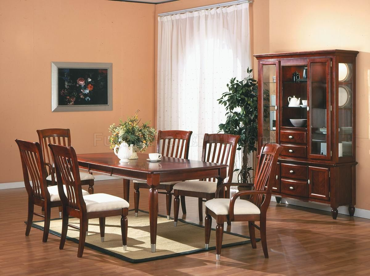 55 Cherry Dining Room Table And Chairs