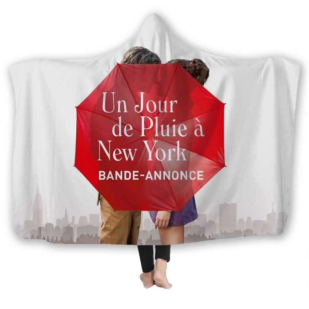 Un Jour De Pluie A New York Couverture A Capuche Adultes Et Enfants Couverture Bureau Couverture A Capuche Costume Grande Taille Jour De Pluie New York