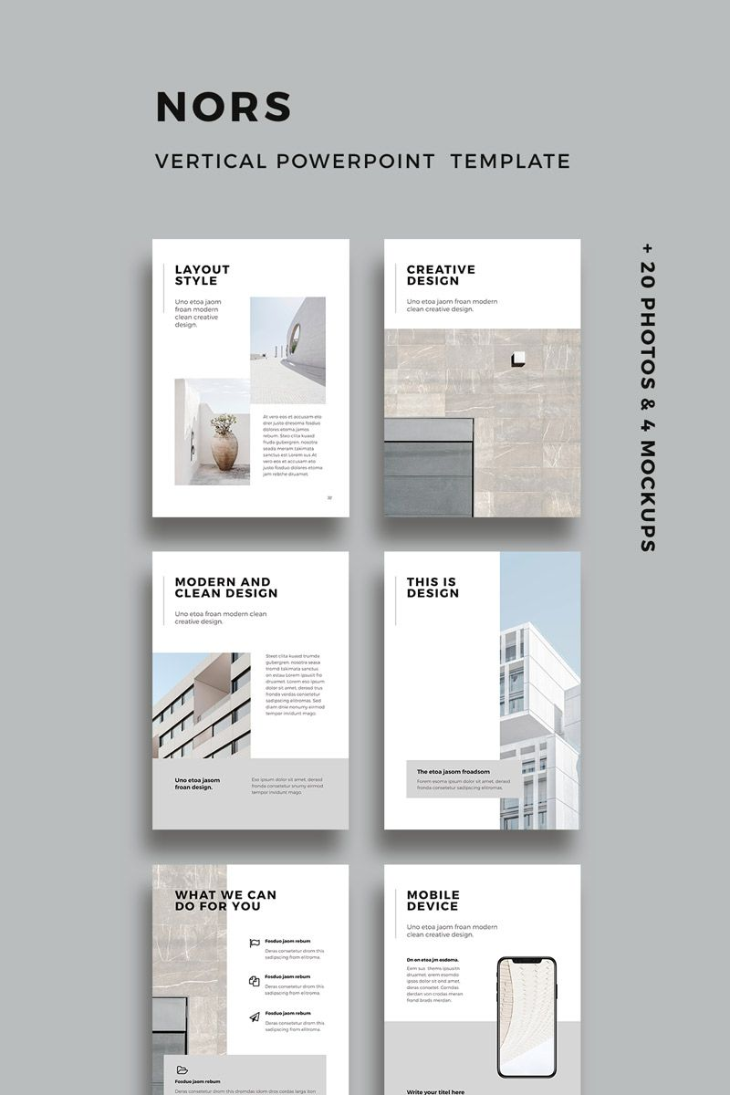 NORS - Vertical PowerPoint Template | Best Web Templates